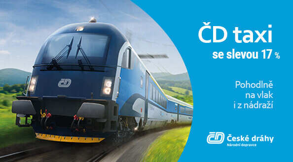 Czech Railways taxi | 17 % discount